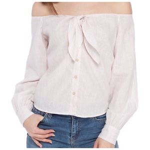 Free People Off-the-Shoulder Shirt